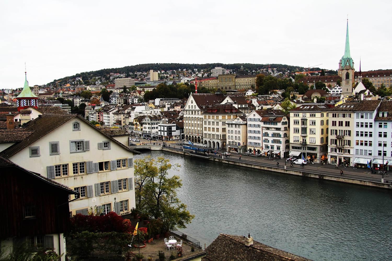 vue zürich depuis lindenhof